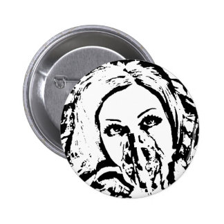 Gas Mask Woman Pins