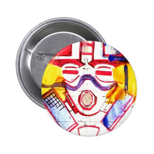 Gas Masked Soldier Pin