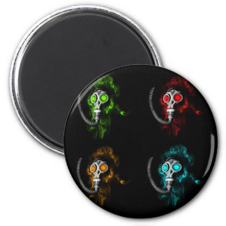 Gas masks 2 inch round magnet