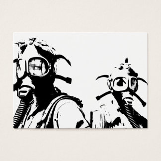 Gas Masks in Black Business Card