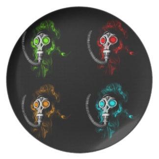 Gas masks plate