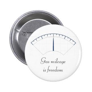 Gas mileage is freedom 2 inch round button