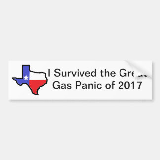 Gas Panic Bumper Sticker
