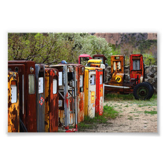 Gas Pump Conga Line in New Mexico Photograph