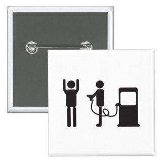 Gas Pump Robbery 2 Inch Square Button