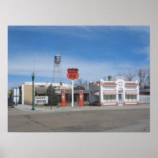 Gas Station Bassett, Nebraska, USA Poster