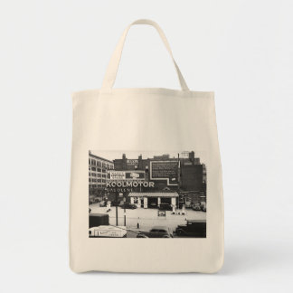 Gas Station Cleveland Ohio Vintage Photo Bags