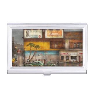 Gas Station - Dreaming of summer 1937 Business Card Holder