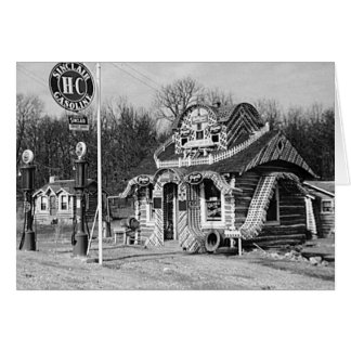 Gas Station & Tourist Cabins Vintage Missouri Card