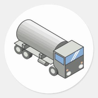 Gas truck.ai classic round sticker
