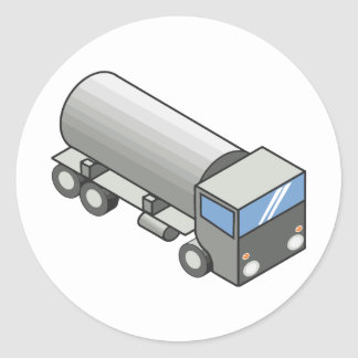 Gas truck.ai round sticker