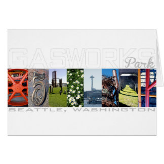 Gas Works Park Seattle Travel Notecard