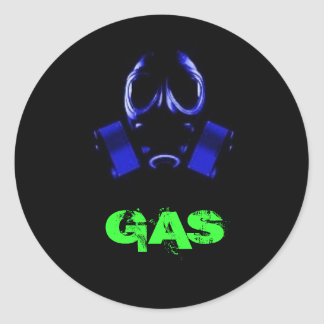 gasmask, GAS Classic Round Sticker