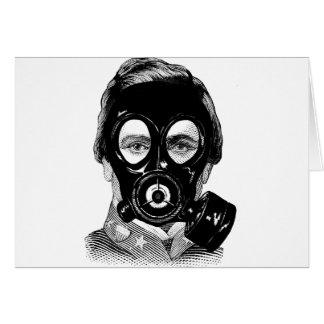 Gasmask Man Card