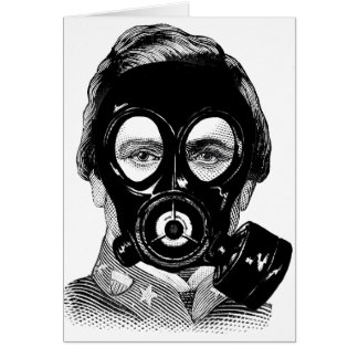 Gasmask Man Card