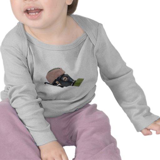 GasMaskMilitaryHat052409 Tee Shirts