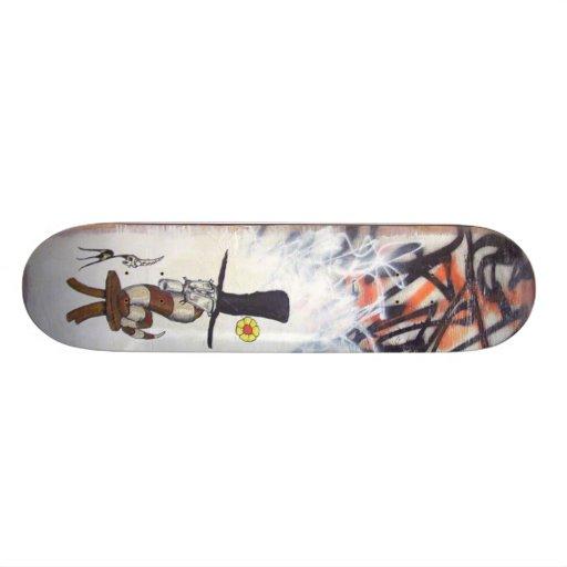gasmaskwormonstool1 custom skateboard