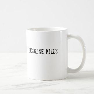 gasoline kills coffee mugs
