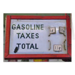 Gasoline price 11 cents - Card