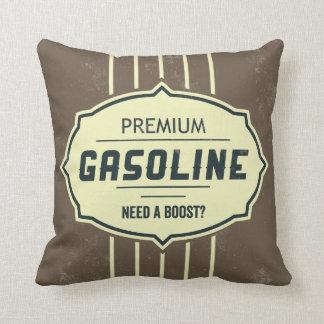 Gasoline Retro Label Designer Accent Pillows