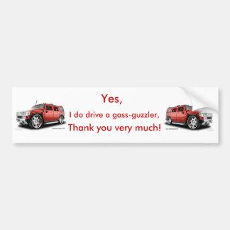 Gass-Guzzler bumper sticker (Hummer)