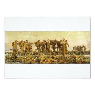 "Gassed by John Singer Sargent World War I 5"" X 7"" Invitation Card"