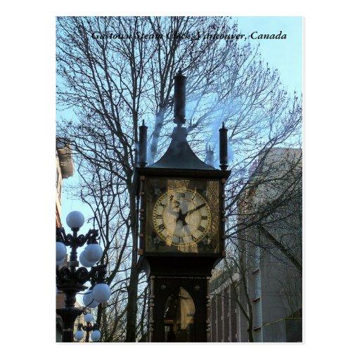 Gastown Steam Clock Postcard
