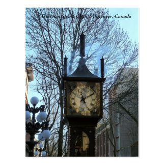 Gastown Steam Clock, Vancouver, Canada Postcard