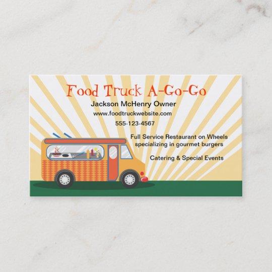 Gastro Cartes De Visite Camion Nourriture