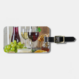 Gastronomy Fruit Wine & Cheese Luggage ID Tag