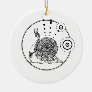 Gastropod Ceramic Ornament