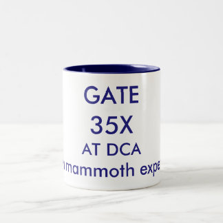 Gate 35X-Reagan National Airport. Two-Tone Coffee Mug