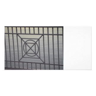 gate abstract pattern white rails neat background picture card