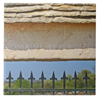Gate and key stone carved with Montrachet, Tile