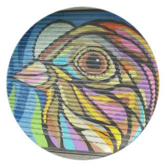 Gate Bird Plate
