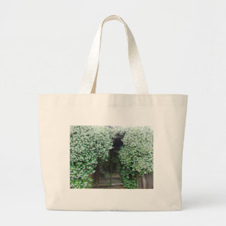 Gate Covered in Jasmine Large Tote Bag