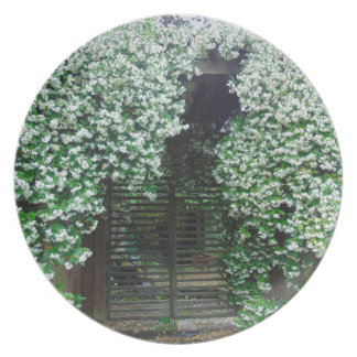 Gate Covered in Jasmine Plate