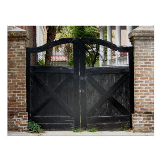 Gate in Charleston South Carolina Poster