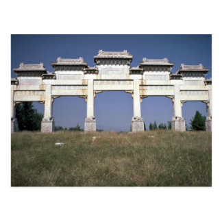 Gate, Ming Imperial Tombs, north of Beijing, China Postcard