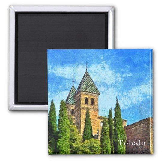 Gate Towers Puerta de Bisagra Nueva in Toledo. Magnet