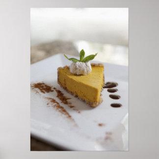 Gâteau au fromage de citrouille poster