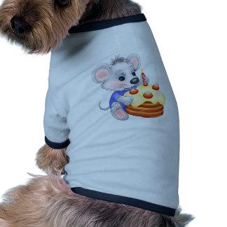 gâteau d'anniversaire de souris tee-shirt pour chien