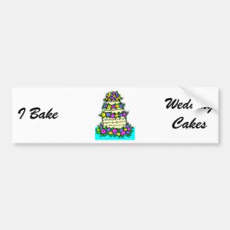 Gâteau de mariage adhésifs pour voiture