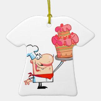 gâteau drôle de participation de chef de bande des décoration pour sapin de noël