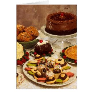 Gâteaux et bonbons carte de vœux