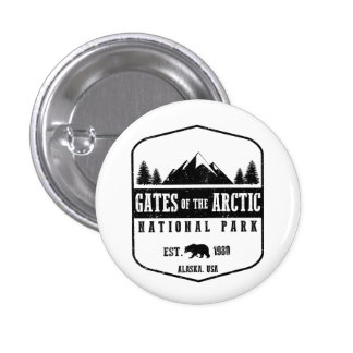 Gates of the Arctic National Park 1 Inch Round Button