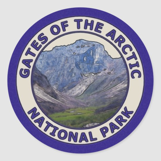 Gates of the Arctic National Park Classic Round Sticker