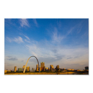 Gateway Arch & Downtown St. Louis in the Morning Poster