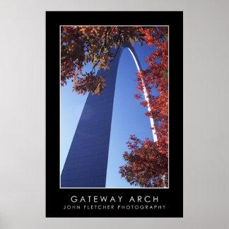 Gateway Arch Poster w/ Borders