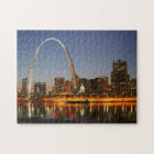 Gateway Arch St. Louis Mississippi at Night Jigsaw Puzzle